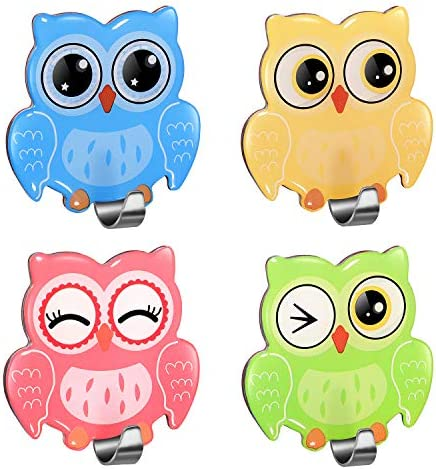Morcart Cute Hooks Self Adhesive Owl Hook Colorful Wall Hangers for Kitchen Kids Bedroom Bathroom product image