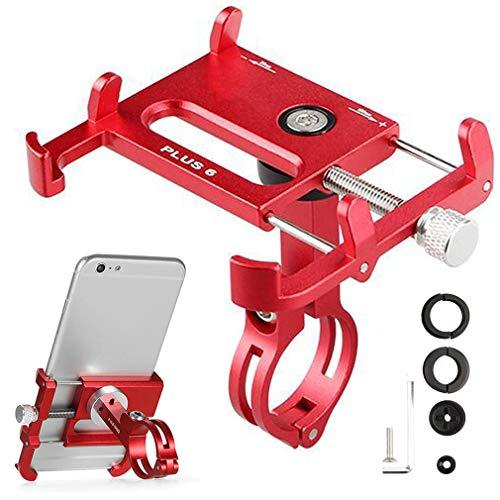 RXLLSY Soporte Giratorio de 360 ° para TeléFono para Bicicleta, Soporte para Motocicleta, Soporte GPS para Manillar de Bicicleta, Stents para TeléFono,Rojo