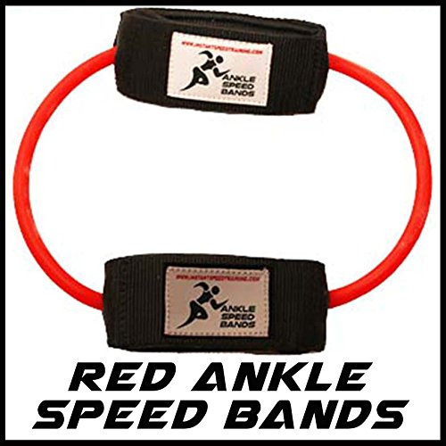 Ankle Speed Bands | Leg Training Resistance band set for Running Power Agility Acceleration Muscle Activation and Strength, Used by Yohan Blake and Suitable for all sports (Red Ankle Speed bands)