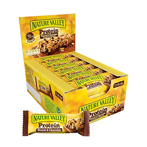 Nature Valley Protein Peanut & Chocolate, 12er Pack Proteinriegel (12 x 40 g)