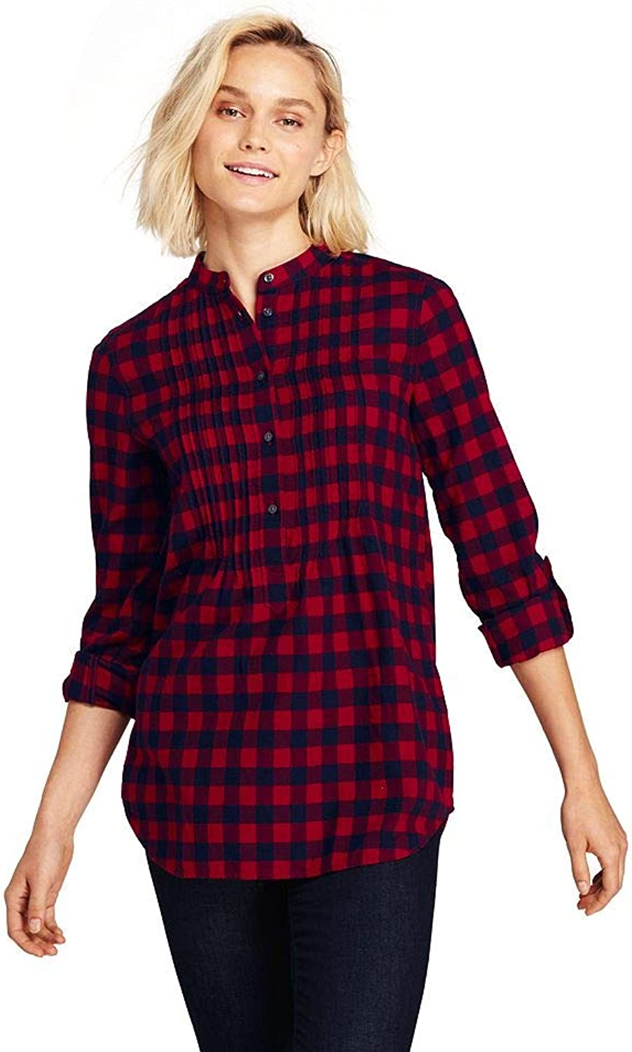7dc84b3577 Lands' End Women's Tunic Top Flannel Petite ntfiwi8447-New Clothing ...