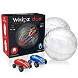 USA Toyz Whipz Duo Micro Racers Toy Cars for Kids - 2pk Mini Keychain Cars, Glow in The Dark LED Fast Pocket Racers Fidget Toys, 2 Mini Cars with 2 Racing Stunt Balls, 2 Clips, and 2 USB Chargers