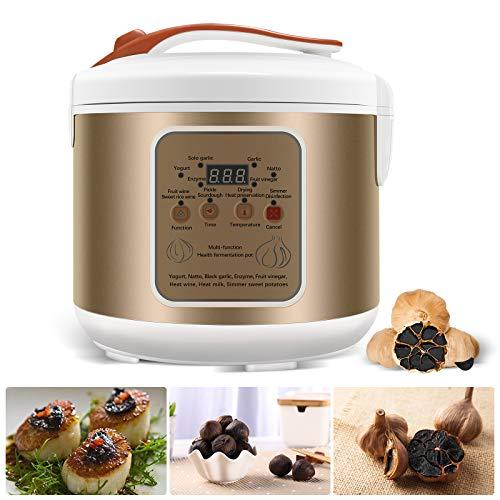Máquina de fermentación Inteligente Todo en uno de fermentador de ajo Negro Olla eléctrica de ajo Olla de ajo Negra casera. Sabor Dulce y Amargo, sin Olor de ajo Antioxidante. (3L)