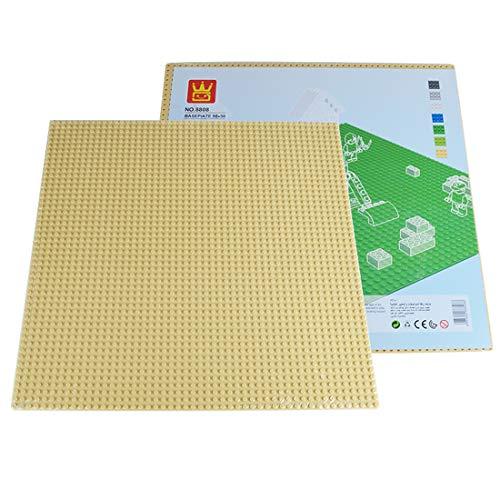 BGOOD Placas de base de 50 x 50 orificios, grandes placas de construcción para carreteras Lego, apilables, compatibles con Lego, 40 x 40 x 0,5 cm