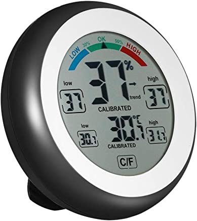 Lixada Indoor Digital Thermometer Hygrometer, °C/°F Temperature Gauge Humidity Monitor Meter Max Min Value Trend Display