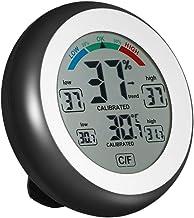 Docooler Higrómetro digital Termómetro, para interiores termómetro digital de ambiente medidor de medidor de humedad
