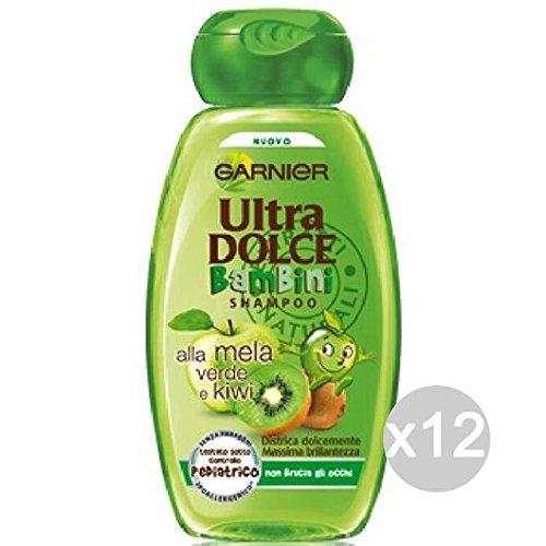 Set 12 GARNIER Ultra Dolce Shampoo Mela E Kiwi Bambini Cura E Trattamento Dei Capelli