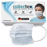 Vileda Collectex Mund-Nasen-Masken aus Vliesstoff, 20 Stück, 3-lagige Einwegmasken