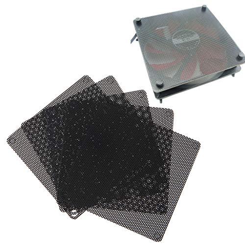 Cbcigbudg5PCS PVC Ventilador Filtro de Polvo PC A Prueba de Polvo Caja Cortable Computadora 80mm Malla Negro