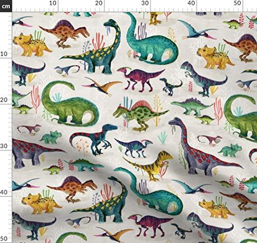 Dinosaurier, Migration, Prähistorisch, Jura, Jungen, Dino Stoffe - Individuell Bedruckt von Spoonflower - Design von Katherine Quinn Gedruckt auf Baumwollstoff Klassik