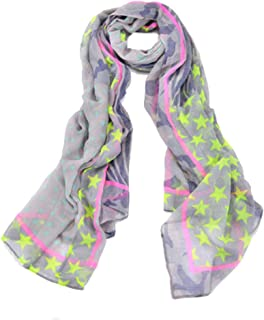 Womens Scarf Lightweight Floral Print Stripes Leopard Fashion Scarves Wrap Stole Shawl