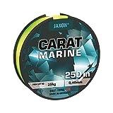 Jaxon Sedal de pesca marina amarilla flúo 250 m bobina monofilamento nuevo (0,45 mm/30 kg)