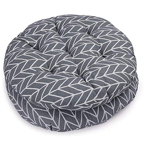 XNDCYX Chair Pad Seat Cushion, Round Wicker Cushions Outdoor Wicker Seat Cushions Chair Cushion for Dining Chairs Garden Home Patio Cushion, Reduces Pressure, 40X40 cm,C,2PACK