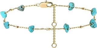 VACRONA الذهب صغيرة الخرز سوار 14K الذهب مطلي سلسلة أساور للنساء أنيقة صغيرة اللؤلؤ سوار قابل للتعديل سلسلة المجوهرات