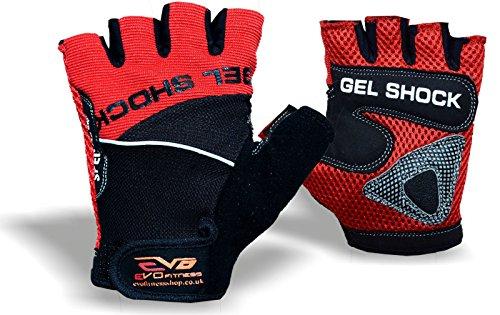 EVO Fitness Fietshandschoen Gym Gewichtheffen Handschoenen GEL oefening Rolstoel Bodybuilding Small