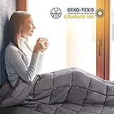 viewstar Couverture Lestée pour Adultes, Couverture pondérée soulager Anxiété Insomnie Stress, Weighted Blanket à...