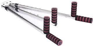 Leg Stretcher Heavy Duty Leg Split Stretching Machine Portable 3 Bar Flexibility Stretching Machine, Yoga Exercise Training Machines (Silver)