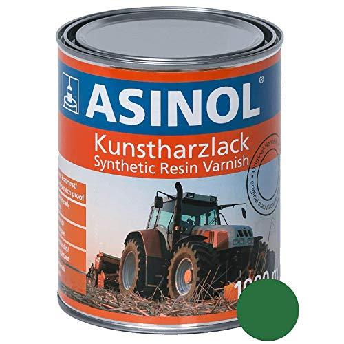 ASINOL RAL 6001 smaragdgrün hochglänzend 1 Liter, 1.000ml Kunstharzlack