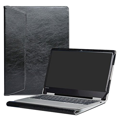 Alapmk Diseñado Especialmente La Funda Protectora de Cuero de PU Para 12.5' Lenovo Yoga 720 12 720-12IKB Ordenador portátil,Negro