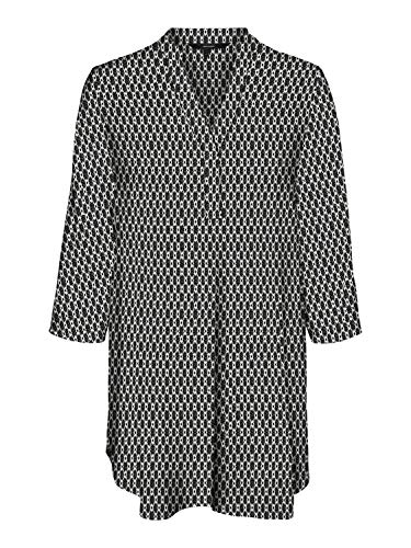 VERO MODA Damen VMSIMPLY Easy 3/4 Tunic TOP WVN GA Tunika-Shirt, Black - Felicia, XS