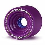 Orangatang in Heat 75 mm 83a Downhill Longboard Skateboard Cruising Wheels (Purple, Set of 4)