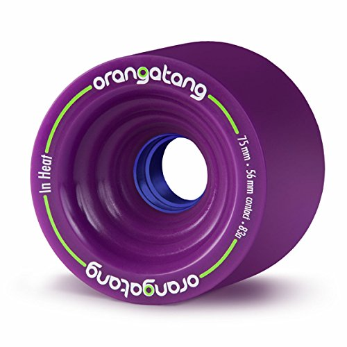 Orangatang in Heat 75 mm 80a Downhill Longboard Skateboard Cruising Wheels (Orange, Set of 4)