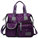Women's Utility Bag Nurse Bag Nursing Tote Bag Versatile and Fashionable with Lots Of Pockets (Purple)