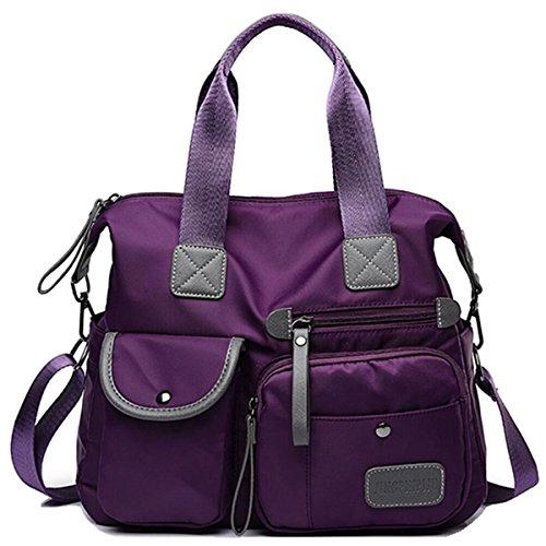 Women s Utility Bag Nurse Bag Nursing Tote Bag Versatile and Fashionable with Lots Of Pockets (Purple)