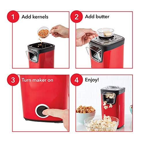 Product Image 2: DASH DAPP155GBAQ06 Turbo POP Popcorn Maker, 8 Cups, Aqua