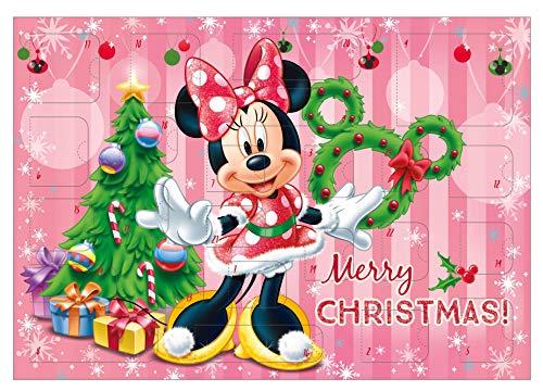Undercover MIHL8023 Maus Adventskalender für Mädchen mit 24 Schreibwaren Überraschungen, Zauberhaftes Disney Minnie Mouse Motiv, ca. 45 x 32 x 3 cm, bunt