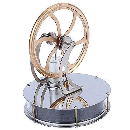 Yosoo スターリングエンジン キット 温冷両用 長時間回ります 機械専攻 低温度型 永久機関 熱気スターリングエンジン 低温モータモデル エンジン おもちゃ スチールモーター Stirling Engine 知育玩具 蒸気教育 低温タイプ スターリング