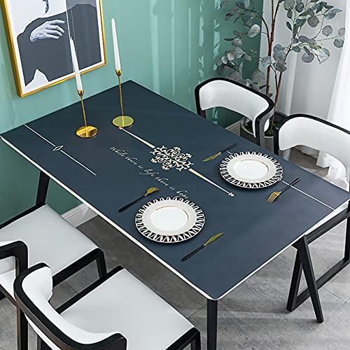 YINGLUO Mantel impermeable para mesa de escritorio, alfombrilla de mesa de hule, de cuero, antideslizante, para ratón, alfombrilla de ratón