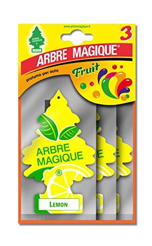 Arbre Magique 102705 Désodorisant pour Voiture Parfum Tris Citron, 3 PZ, Set de 24