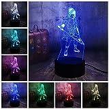Tianyifengg Color 3D-LED-7-control Remoto-luz Nocturna-lámpara de Mesa de Dibujos Animados de muñecas decoración de Dormitorio niños niño niño Ventilador de Juguete Regalo de cumpleaños