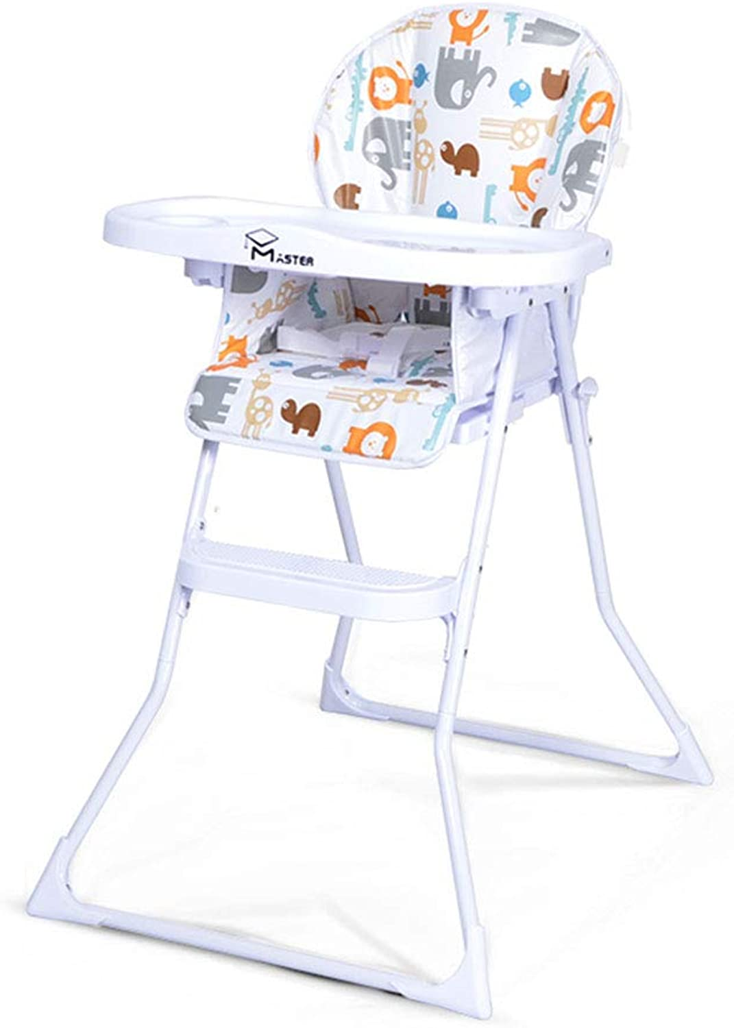 High Chair Baby Dining Chair Multi-Function seat Learning Chair Portable Folding (color   White, Size   57  70  97cm)