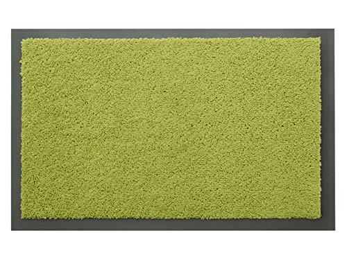 Schmutzfangmatte Sauberlauf Matte DANCER – Grün, 40x60 cm, Waschbare, Rutschfeste, Pflegeleichte Fußmatte, Eingangsmatte, Küchenläufer Matte, Türmatte Haustür Innen & Außen