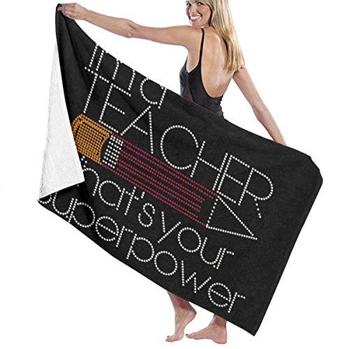 Lewiuzr I 'M A Insegnante Telo da Bagno Beach Spa Doccia Bath Wrap Soft Light Confortevole...