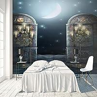 3Dポスターステッカー 月の美しさ 巨大ポスター 壁用ステッカー不織布カスタマイズ可能なサイズHDプリント取り外し可能 テレビ背景写真壁画家の装飾 400X280cm (157X110inch)