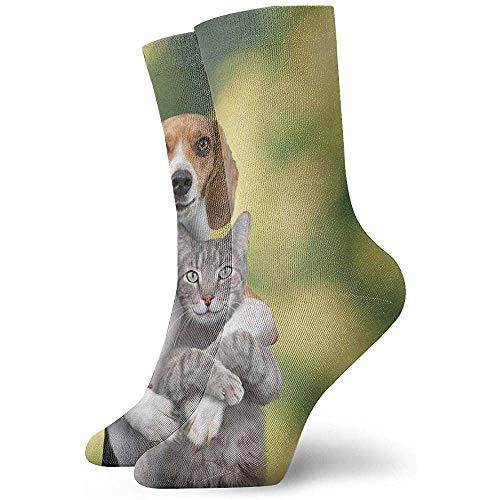 Kevin-Shop katten- en hondenhok enkelsokken casual leuke bemanning sokken voor mannen, vrouwen, kinderen