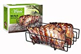 Artestia 11.5' or 14' BBQ Grill Non-Stick Rib Rack, fits Spare Rib/Back Rib from costco/Whole Foods...