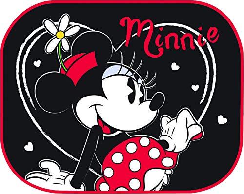Disney 25312 Par de Cortinas Parasol Laterales universales 44 x 35 cm, Minnie Fondo Negro