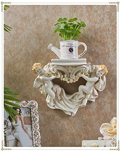 Escultura montada en la pared Decoración del arte del arte 3D Decoración de la pared Estantes flotantes para el restaurante de la sala de estar, esculturas de la colgante de la pared de ángel creativo