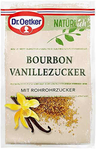 Dr. Oetker Natürlich Bourbon Vanillezucker 3 x 8 g – der Bourbon Vanillezucker mit Rohrohrzucker verleiht mit seinem Bourbon-Vanille Extrakt süßen Speisen ein angenehmes Aroma, 1er Pack
