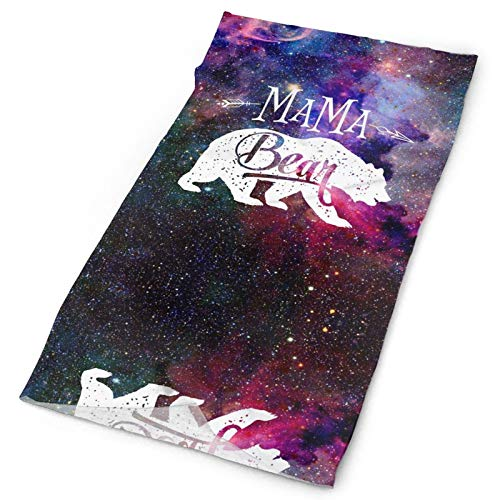 Mama Bear space galaxy Face Covers Anti-Dust Mouth Protect Windproof Reusable Half Face Mask For Adult Headband Sweatband Unisex