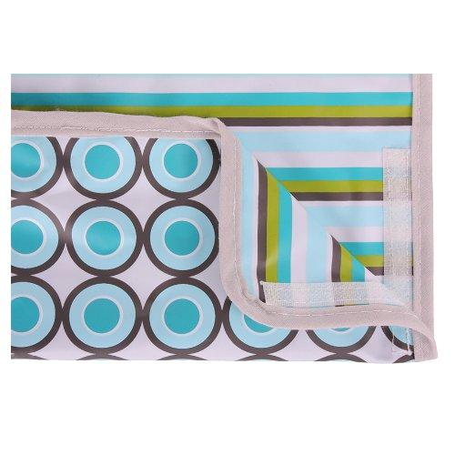Minene 2014 slabbetjes, 27 x 30 cm, blauw/groen/grijs gestreept (patroon)