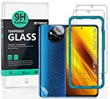 Ibywind Pellicola Protettiva per Poco X3 NFC/Poco X3 PRO[Confezione da 2] con Protezione Obiettivo Fotocamera,Skin in Stile Fibra di Carbonio per Il Retro,Include Kit di Installazione Facilitata