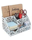 EasyPAG Caddy Organizador para accesorios de escritorio con cajón y huecos, patrón de flores