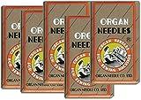 50 Pieces HOME SEWING MACHINE NEEDLES ASSORTMENT (ORGAN 15X1 SIZE#9,11,14, 16, 18) 10pcs per size