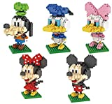 5 Pack 3D Architecture Block Building Set DIY Licks Toy for Intelligence Education - Mickey Mouse Serie 3D Puzzle