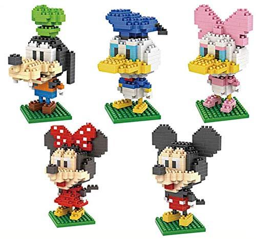LNLJ Disney Mini Bausteine Für Kinder DIY Toy Sets Mickey Mouse Serie 3D Puzzle (5 Packung)